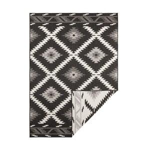 Čierno-krémový obojstranný vysokoodolný koberec Bougari Twin Supreme Duro, 80×150 cm