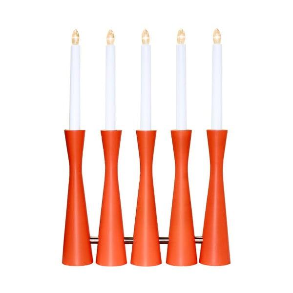 Oranžový LED svietnik Midja
