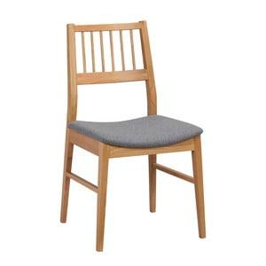 Sada 2 prírodných stoličiek z dubového dreva Folke Dan