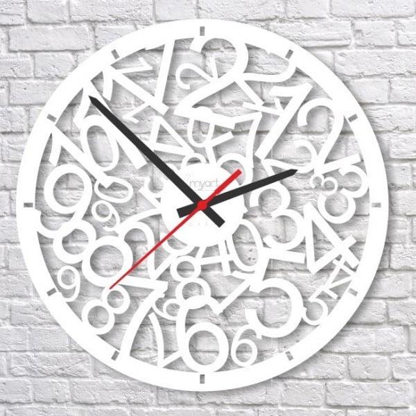 Nástenné hodiny White Crazy