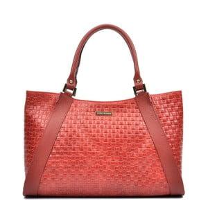 Červená kožená kabelka Luisa Vannino Maya