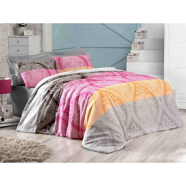 Obliečky s plachtou Newdamask Pink, 160x220 cm