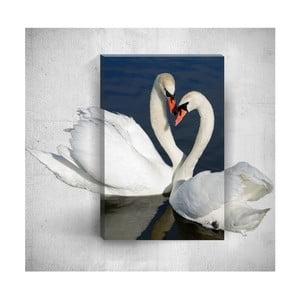 Nástenný 3D obraz Mosticx Swans, 40×60 cm