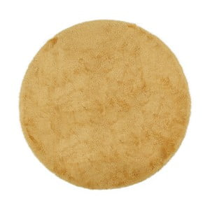 Žltá predložka do kúpeľne Confetti Bathmats Miami, 100x100cm