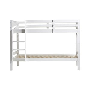 Biela poschodová posteľ Marckeric Torino, 202 × 98 cm