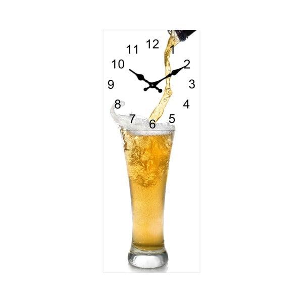 Sklenené hodiny Sklenice, 20x50 cm