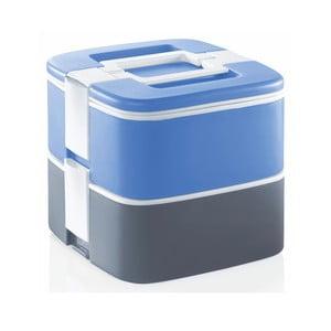 Sivo-modrý termo box na obed Enjoy, 1,5 l