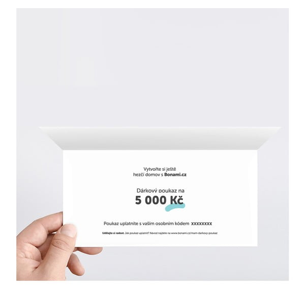 Tlačený darčekový poukaz na 5000 Kč