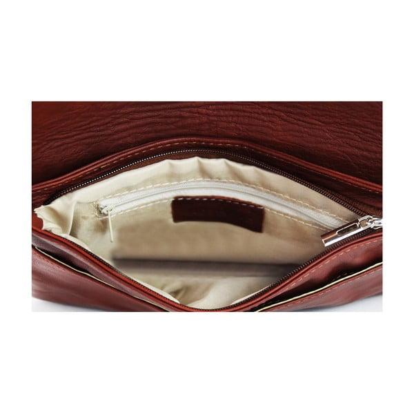 Kožená kabelka Masienne Marrone