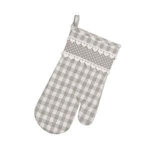 Kuchynská rukavica Basic Hearts, sivá
