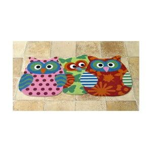 Koberec Owls - tri sovičky, 40x80 cm
