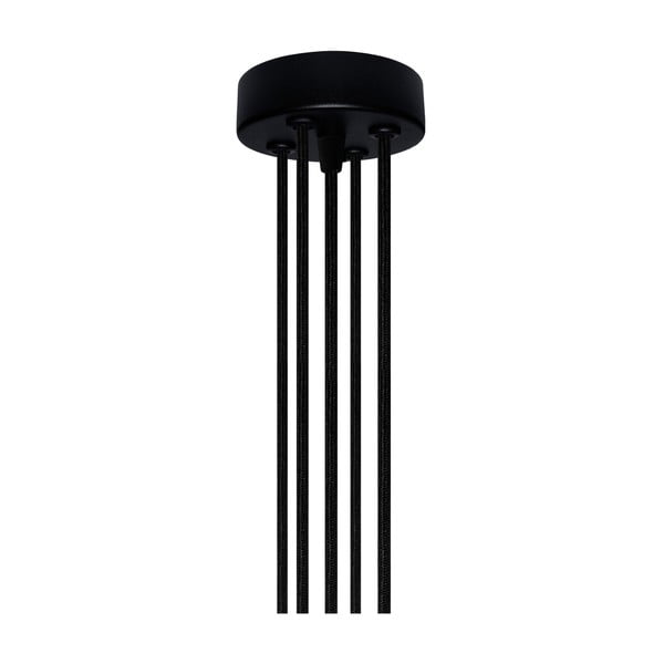 Závesné svietidlo s 5 čiernymi káblami a medenou objímkou Bulb Attack Uno Group
