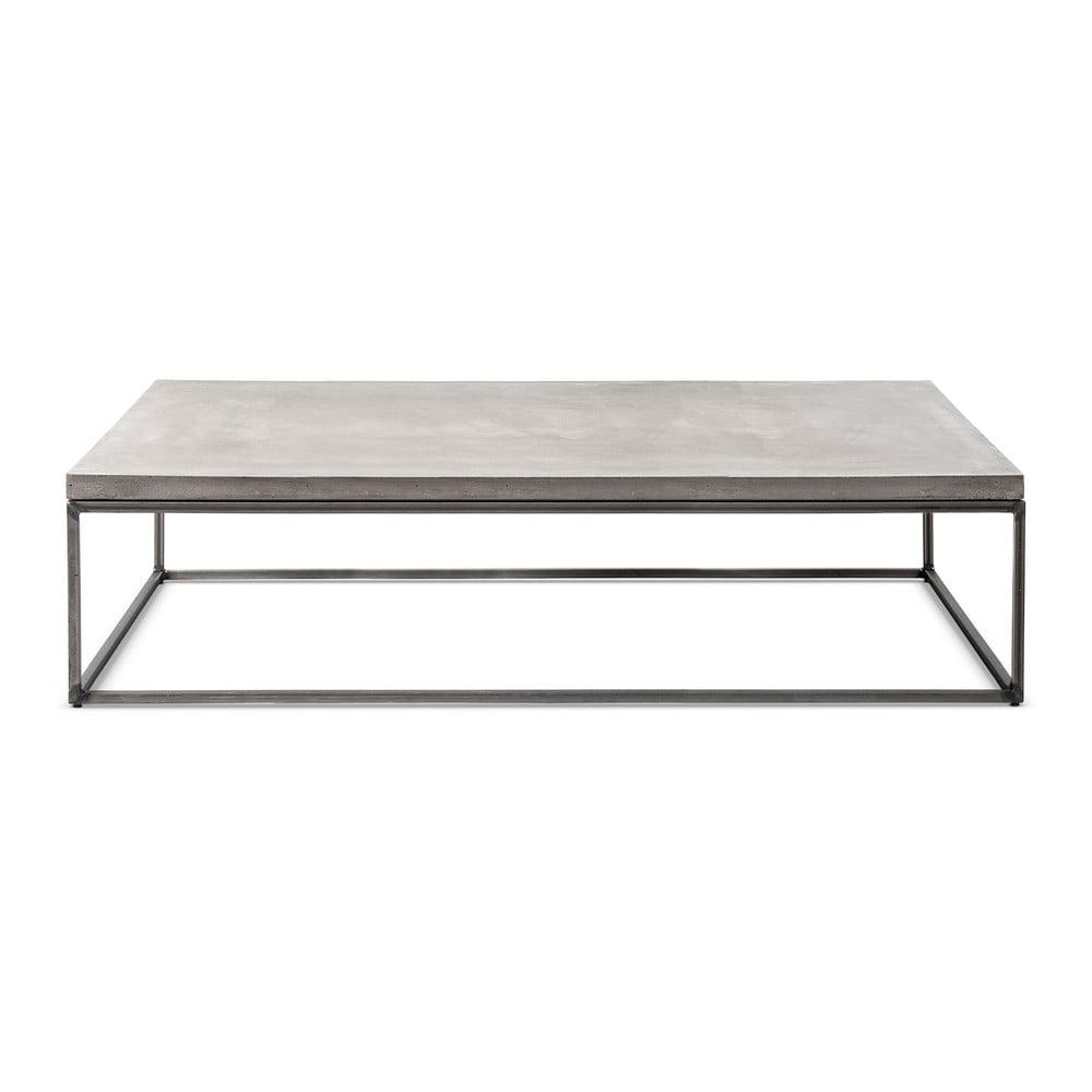 Betónový konferenčný stôl Lyon Béton Perspective, 130 x 70 cm