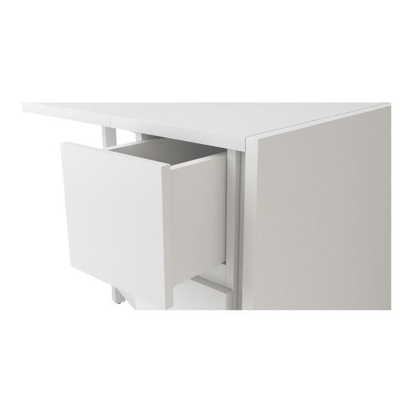 Biely skladací multifunkčný stôl Woodman Kungla