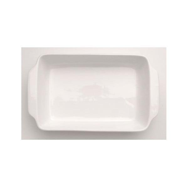 Biela kameninová zapekacia misa BergHOFF Bianco, 36 x 22 cm