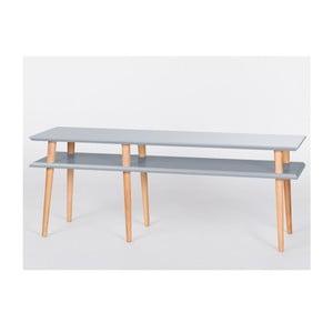 Tmavosivý konferenčný stolík Ragaba Mugo,dĺžka119 cm
