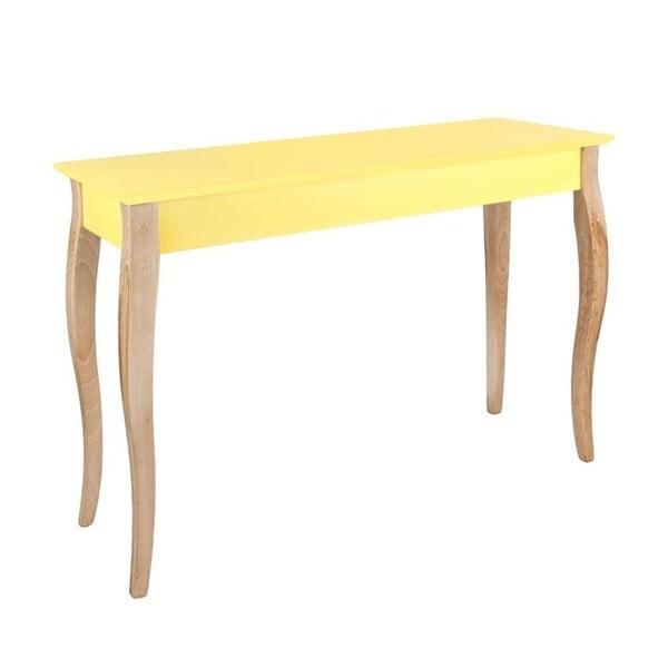 Konzolový stolík Dressing Table 150x74 cm, žltý