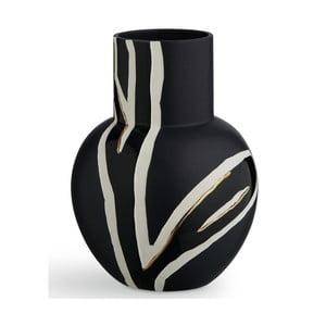 Tmavomodrá kameninová váza Kähler Design Fiora