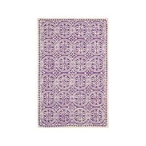 Fialový vlnený koberec Marina 182×274 cm