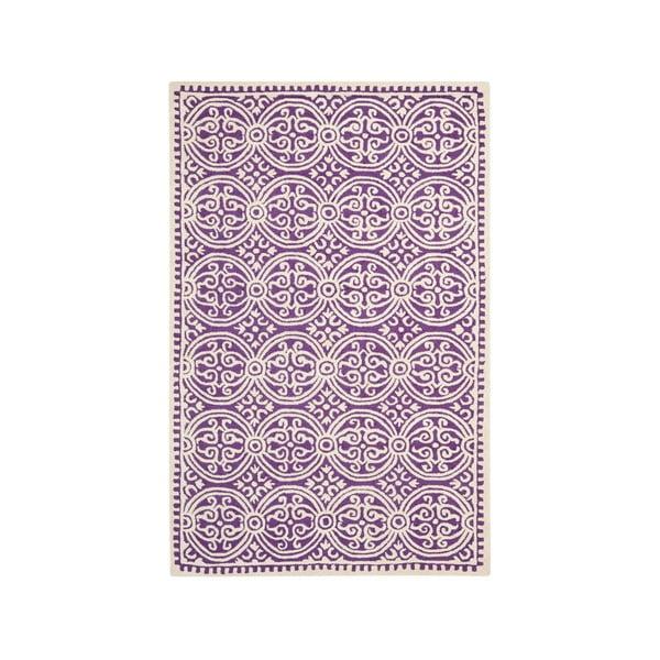 Vlnený koberec Marina 182x274 cm, fialový
