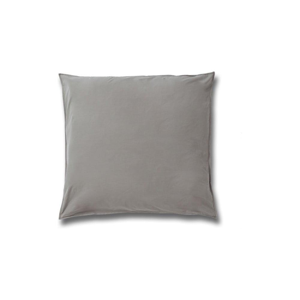 Sivá obliečka na vankúš z bavlneného perkálu Casa Di Bassi, 80 × 80 cm