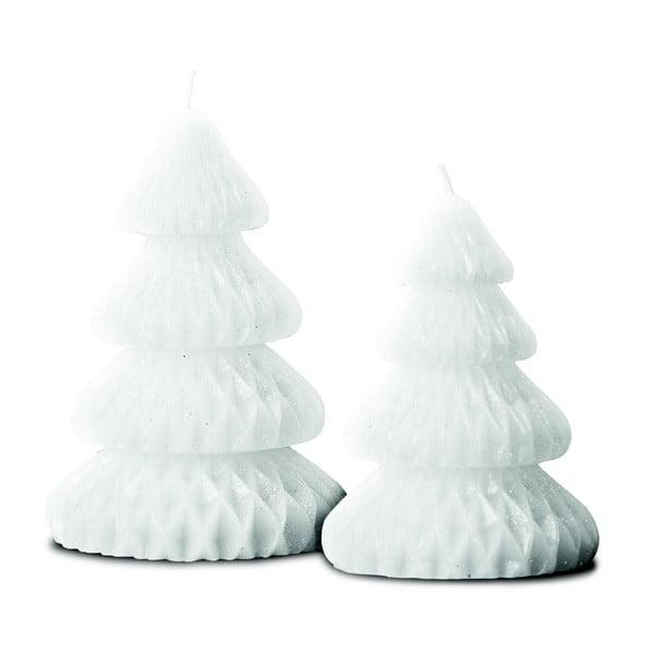 Sada 2 sviečok Candle Tree White