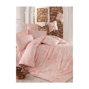 Ružové obliečky na dvojlôžko Elena, 200 x 220 cm