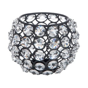 Svietnik Glass Ball Gliter, 11x11x11 cm