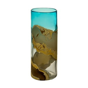Ručne vyrábaná krištáľová váza Santiago Pons Ocean, výška 30 cm