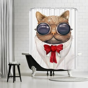 Kúpeľňový záves Astro Cat, 180x180 cm