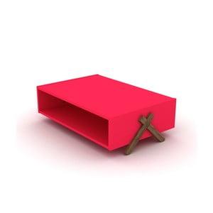 Ružový konferenčný stolík Rafevi Kipp