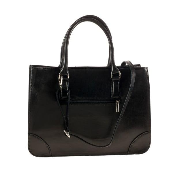 Čierna kožená kabelka Ore Diece Benevento