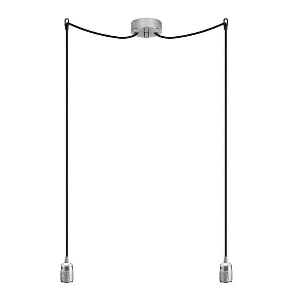Dvojitý závesný kábel Uno, strieborná/čierna/strieborná