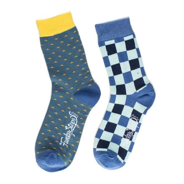 Sada 2 párov unisex ponožiek Funky Steps Binger, veľkosť 39/45