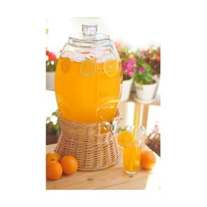 Sklenený barel na nápoje Ciragan