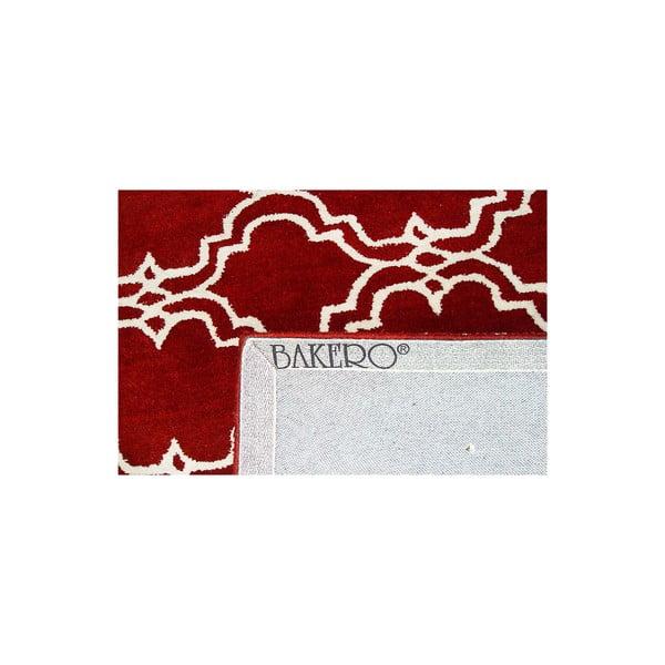 Červený vlnený koberec Bakero Riviera, 183 x 122 cm