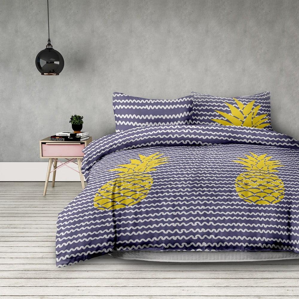 Obliečky z mikrovlákna obliečky AmeliaHome Pineapple, 140 x 200 cm + 63 x 63 cm