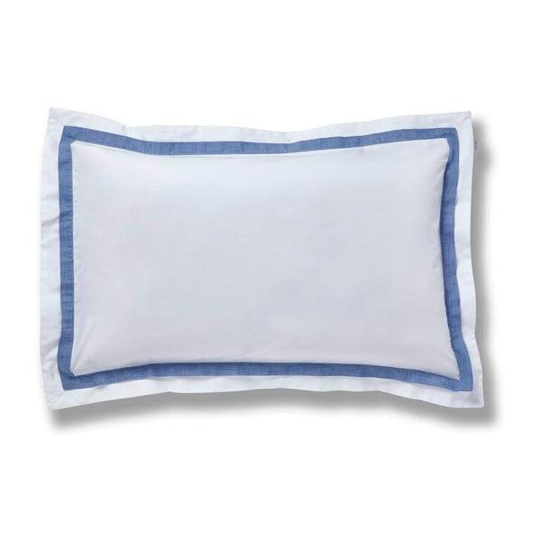 Modrá obliečka na vankúš Bianca Chambray, 50 x 75 cm