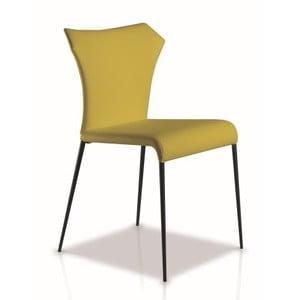 Žltozelená jedálenská stolička Ángel Cerdá Isabel