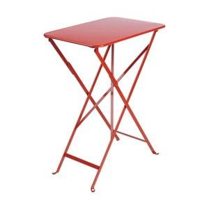 Červený záhradný stolík Fermob Bistro, 37×57 cm