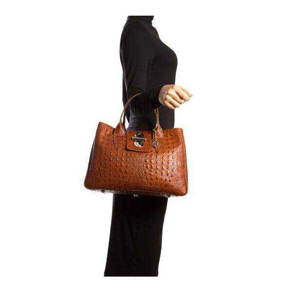 Kožená kabelka Maria 614 Cognac