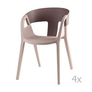 Sada 4 sivých jedálenských stoličiek sømcasa Willa