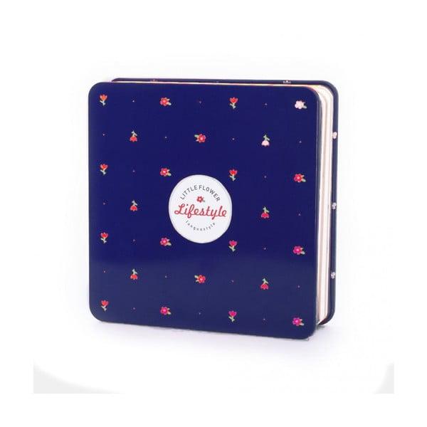 Plechový zápisník Spring, modrý