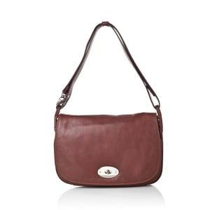 Hnedá kožená kabelka Gianni Conti Adelia