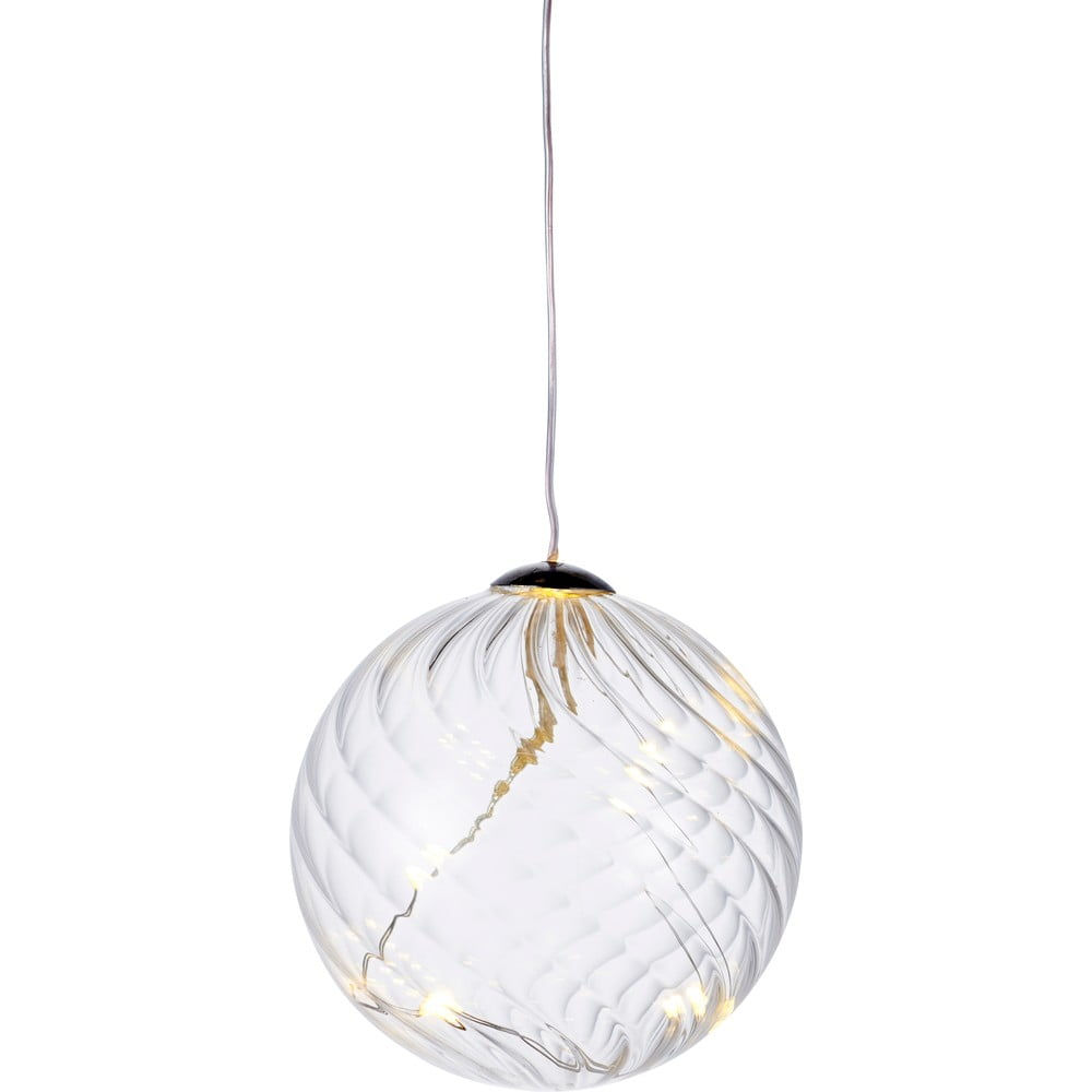 Svetelná LED dekorácia Sirius Wave Ball, Ø 8 cm