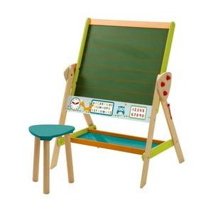 Stolík a popisovacia tabuľa v jednom so stoličkou Roba Kids School