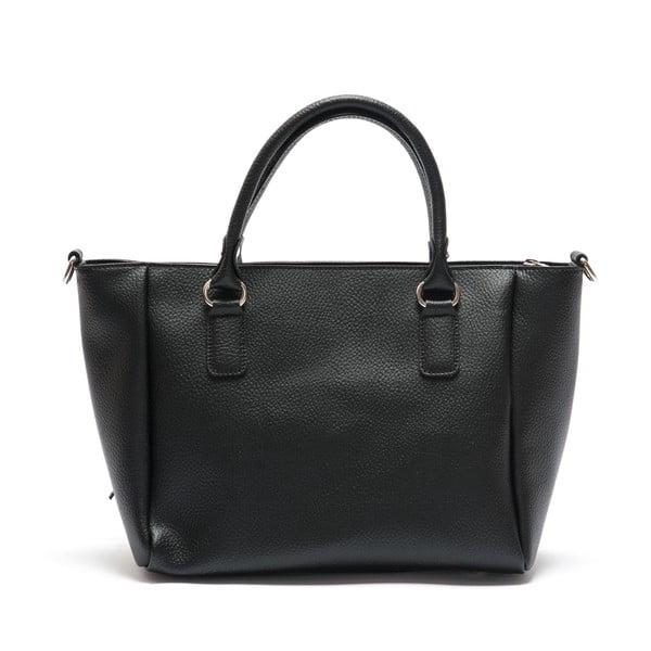 Čierna kožená kabelka Mangotti Iresine
