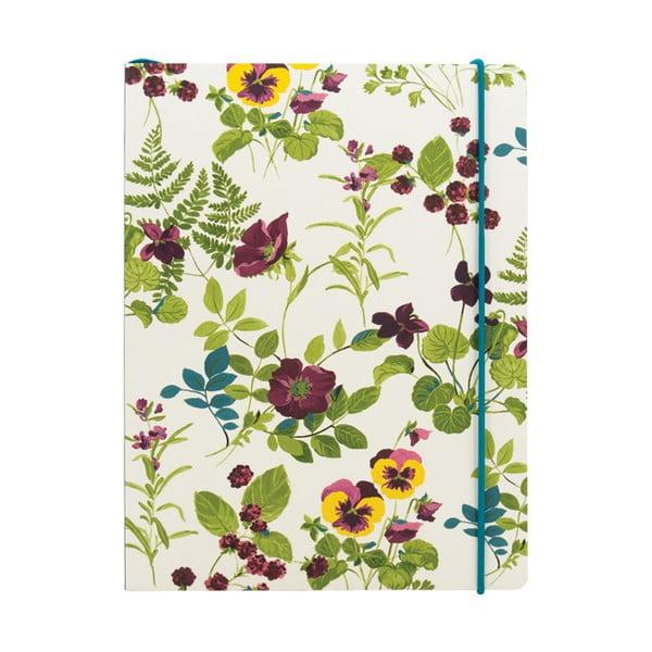 Linajkový zápisník A5 Laura Ashley Parma Violets by Portico Designs, 80stránok