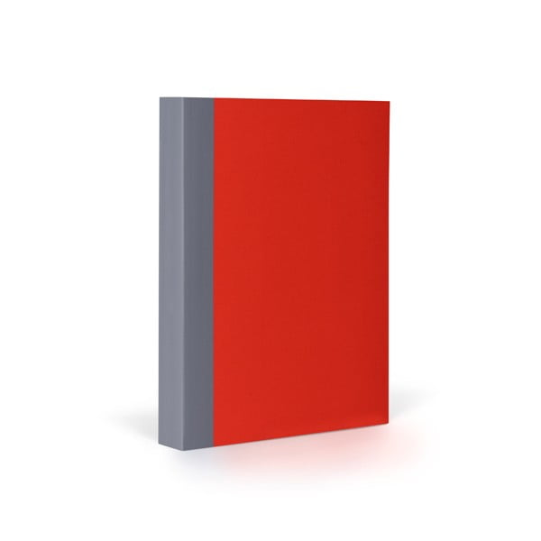 Zápisník FANTASTICPAPER A6 Cherry/Grey, štvorčekový