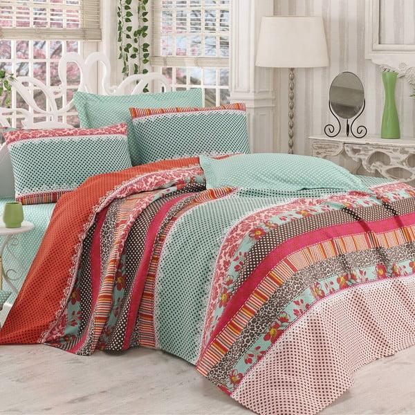 Sada prikrývky na posteľ, plachty a 2 vankúšov Capricorn Tan, 200x230 cm